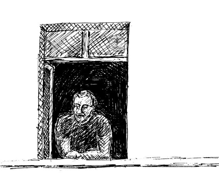 Mann-am-Fenster