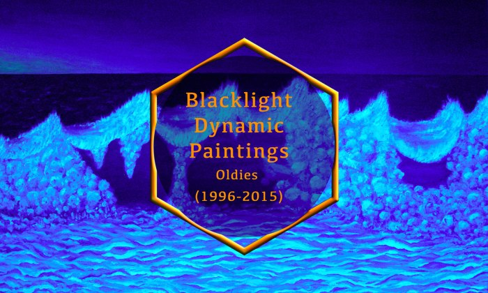 Blacklight Dynamic Paintings – Old work (1996-2015)